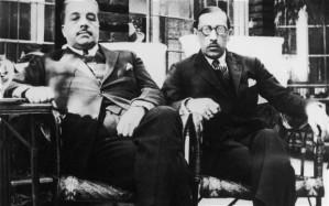 Igor Stravinsky (derecha) con Diaghilev  Foto: Hulton Archive