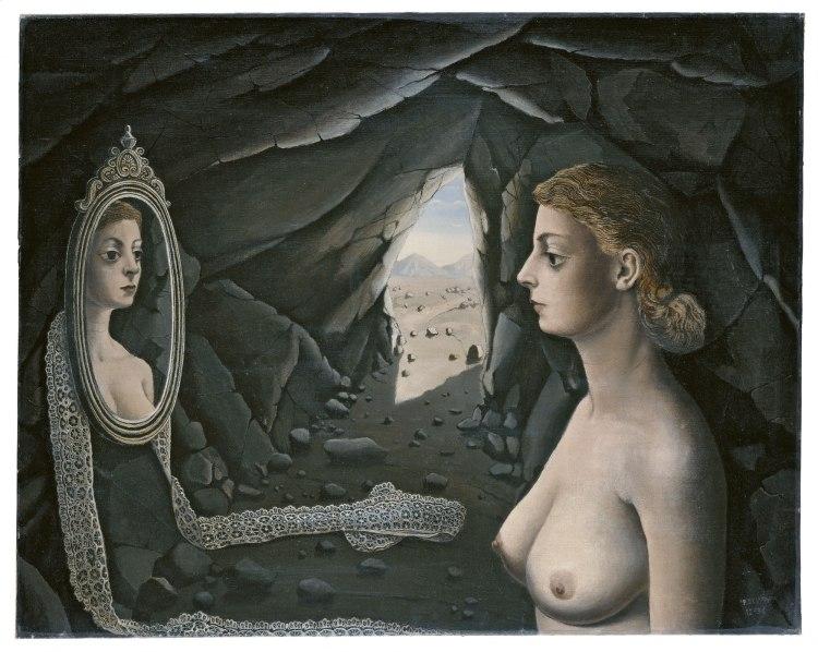 Mujer ante el espejo (Paul Delvaux, 1936)