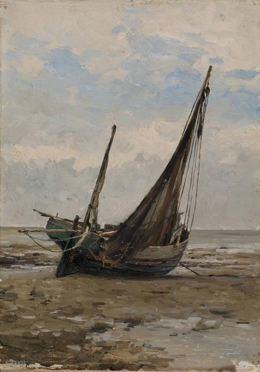 Barca de pesca (Carlos de Haes, 1877-1884)