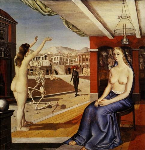 La llamada (Paul Delvaux, 1944)