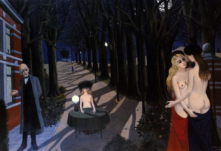 Noche de paz (Paul Delvaux, 1962)