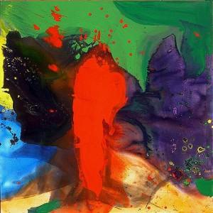 Adán Rojo, de Davis Lisboa (2005). Pintura de  Expresionismo abstracto