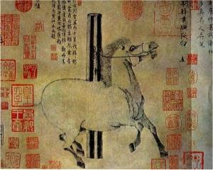 Blanco que brilla en la noche (Han Kan, 742-756), dinastía Tang, China.