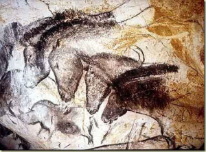 Detalle del panel de caballos, cueva de Chauvet, Francia (30.000 - 32.000 años de antigüedad)
