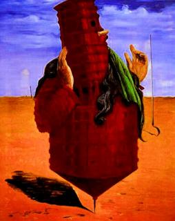 Ubu imperator de Max Ernst (1923). Pintura surrealista.