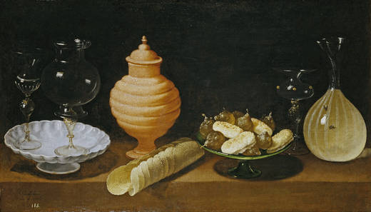 Bodegón con dulces y recipientes de cristal (Juan van der Hamen y León, 1622)
