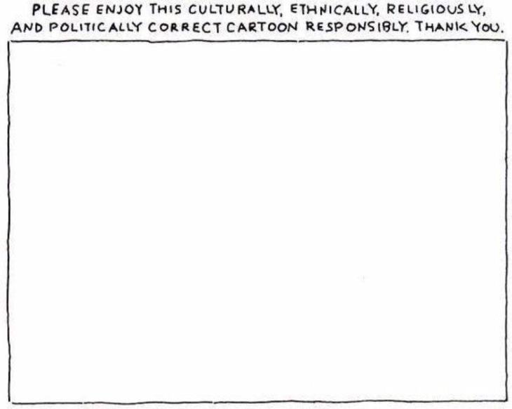 Viñeta de Michael Shaw en el New Yorker contra la barbarie (2006)