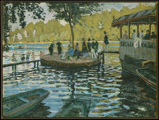 Cuadro de La Grenouillère de Claude Monet en el Museo Metropolitano de Nueva York