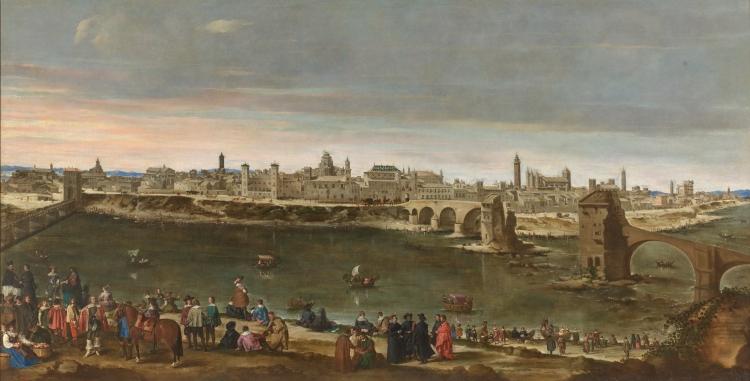 Vista de Zaragoza (Juan Bautista Martínez del Mazo, 1647)
