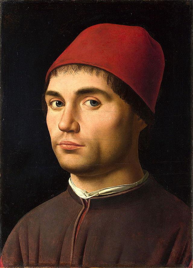 Retrato de un hombre, posible autorretrato (1475, Antonello da Messina)