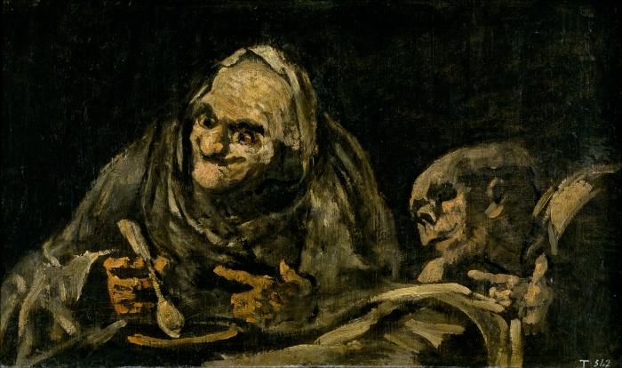 Dos viejos comiendo (1820-1823, Francisco de Goya y Lucientes)