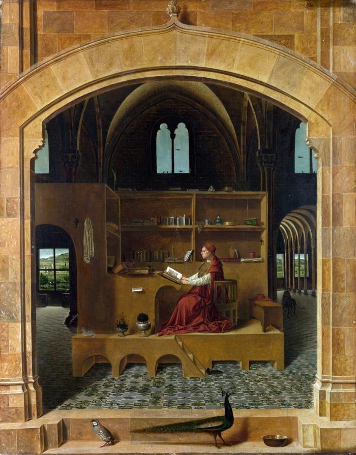 San Jerónimo en su estudio (1475-1476, Antonello da Messina)