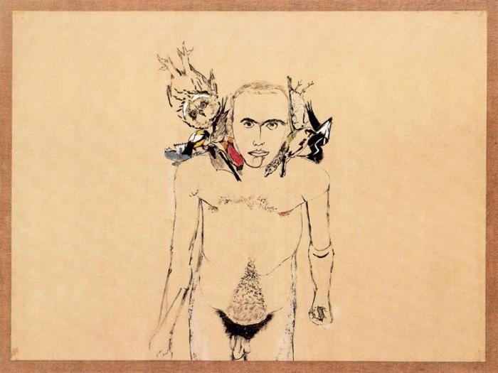 Autorretrato: el primero (1979, Francesco Clemente)